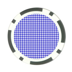 Friendly Houndstooth Pattern,blue Poker Chip Card Guard