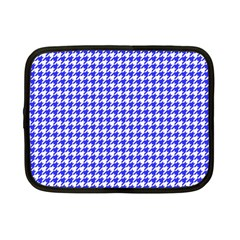 Friendly Houndstooth Pattern,blue Netbook Case (small)