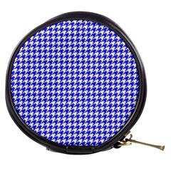 Friendly Houndstooth Pattern,blue Mini Makeup Bags