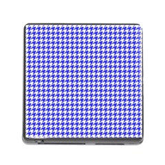 Friendly Houndstooth Pattern,blue Memory Card Reader (square)