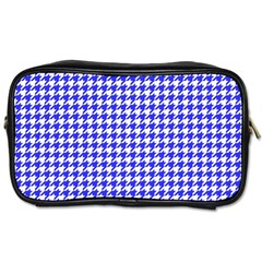 Friendly Houndstooth Pattern,blue Toiletries Bags