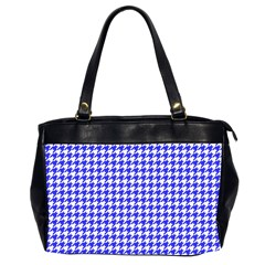 Friendly Houndstooth Pattern,blue Office Handbags (2 Sides)