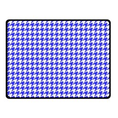 Friendly Houndstooth Pattern,blue Fleece Blanket (small)