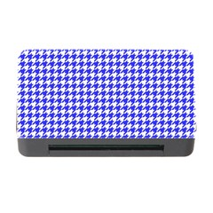Friendly Houndstooth Pattern,blue Memory Card Reader With Cf