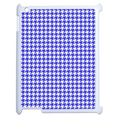 Friendly Houndstooth Pattern,blue Apple Ipad 2 Case (white)
