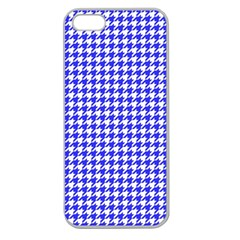 Friendly Houndstooth Pattern,blue Apple Seamless Iphone 5 Case (clear)