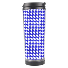 Friendly Houndstooth Pattern,blue Travel Tumbler