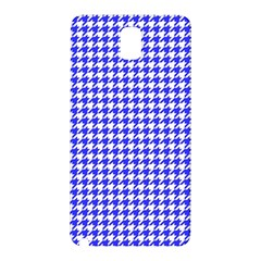 Friendly Houndstooth Pattern,blue Samsung Galaxy Note 3 N9005 Hardshell Back Case