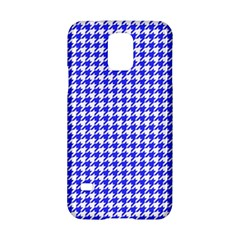 Friendly Houndstooth Pattern,blue Samsung Galaxy S5 Hardshell Case