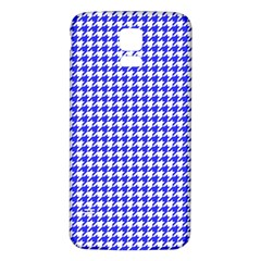 Friendly Houndstooth Pattern,blue Samsung Galaxy S5 Back Case (white)