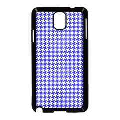 Friendly Houndstooth Pattern,blue Samsung Galaxy Note 3 Neo Hardshell Case (black)