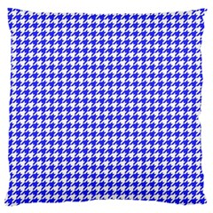 Friendly Houndstooth Pattern,blue Standard Flano Cushion Case (two Sides)