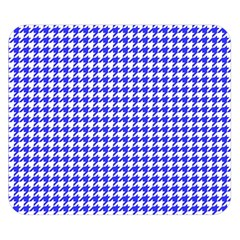 Friendly Houndstooth Pattern,blue Double Sided Flano Blanket (small)