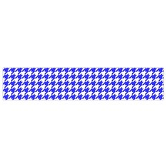 Friendly Houndstooth Pattern,blue Flano Scarf (small)