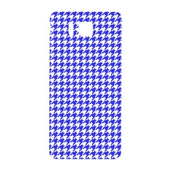 Friendly Houndstooth Pattern,blue Samsung Galaxy Alpha Hardshell Back Case