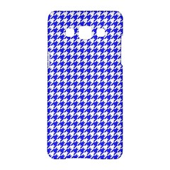 Friendly Houndstooth Pattern,blue Samsung Galaxy A5 Hardshell Case