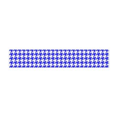 Friendly Houndstooth Pattern,blue Flano Scarf (mini)