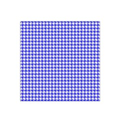 Friendly Houndstooth Pattern,blue Satin Bandana Scarf