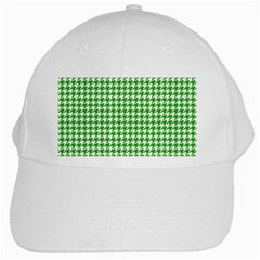Friendly Houndstooth Pattern,green White Cap