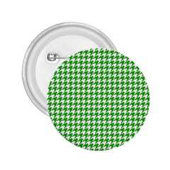 Friendly Houndstooth Pattern,green 2 25  Buttons