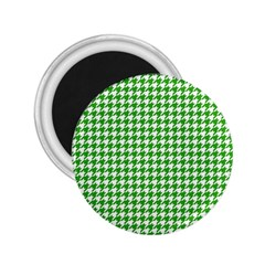 Friendly Houndstooth Pattern,green 2 25  Magnets
