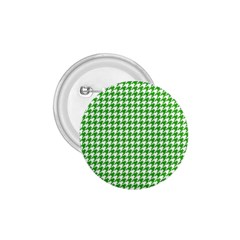 Friendly Houndstooth Pattern,green 1 75  Buttons