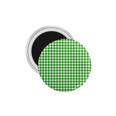 Friendly Houndstooth Pattern,green 1 75  Magnets