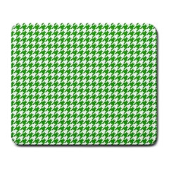 Friendly Houndstooth Pattern,green Large Mousepads