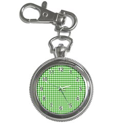 Friendly Houndstooth Pattern,green Key Chain Watches