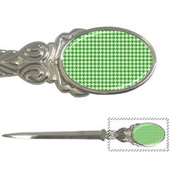 Friendly Houndstooth Pattern,green Letter Openers