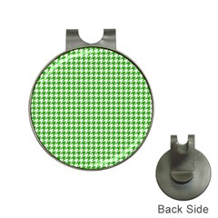 Friendly Houndstooth Pattern,green Hat Clips With Golf Markers