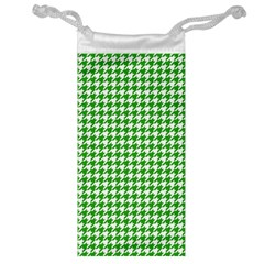 Friendly Houndstooth Pattern,green Jewelry Bag