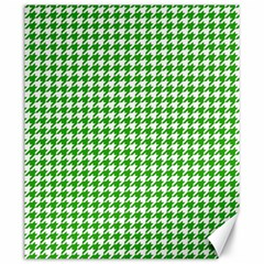 Friendly Houndstooth Pattern,green Canvas 20  X 24