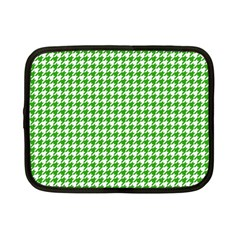 Friendly Houndstooth Pattern,green Netbook Case (small)