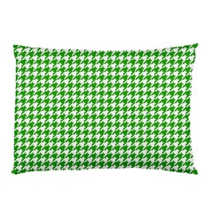 Friendly Houndstooth Pattern,green Pillow Case