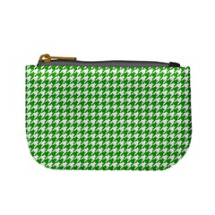 Friendly Houndstooth Pattern,green Mini Coin Purses