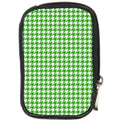 Friendly Houndstooth Pattern,green Compact Camera Cases