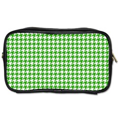 Friendly Houndstooth Pattern,green Toiletries Bags