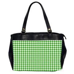 Friendly Houndstooth Pattern,green Office Handbags (2 Sides)