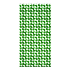 Friendly Houndstooth Pattern,green Shower Curtain 36  X 72  (stall)
