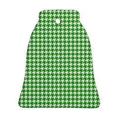 Friendly Houndstooth Pattern,green Ornament (bell)