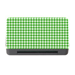 Friendly Houndstooth Pattern,green Memory Card Reader With Cf