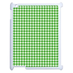 Friendly Houndstooth Pattern,green Apple Ipad 2 Case (white)
