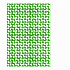 Friendly Houndstooth Pattern,green Small Garden Flag (two Sides)