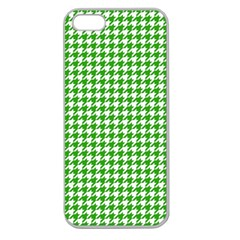 Friendly Houndstooth Pattern,green Apple Seamless Iphone 5 Case (clear)