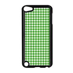 Friendly Houndstooth Pattern,green Apple Ipod Touch 5 Case (black)