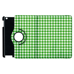Friendly Houndstooth Pattern,green Apple Ipad 2 Flip 360 Case