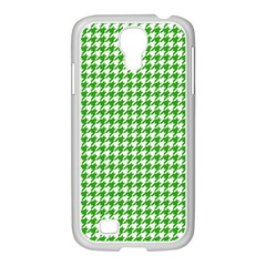 Friendly Houndstooth Pattern,green Samsung Galaxy S4 I9500/ I9505 Case (white)
