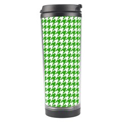 Friendly Houndstooth Pattern,green Travel Tumbler