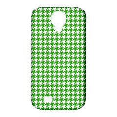Friendly Houndstooth Pattern,green Samsung Galaxy S4 Classic Hardshell Case (pc+silicone)